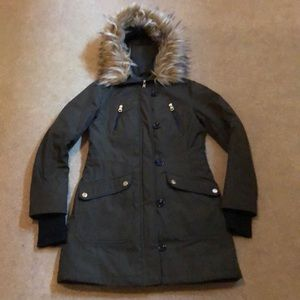 Jessica Simpson Olive Trench w/faux fur❤️Sale NOW!
